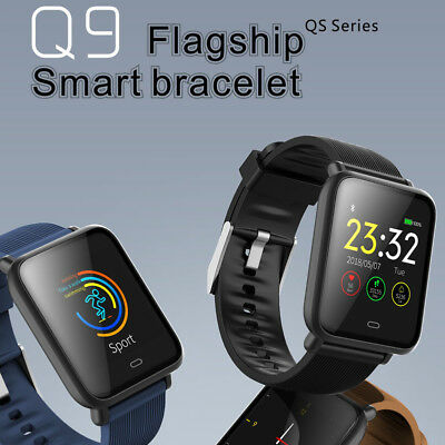 Q9 Smart Watch Blood Pressure Heart Rate Monitor Pedometer Fitness Tracker Sport