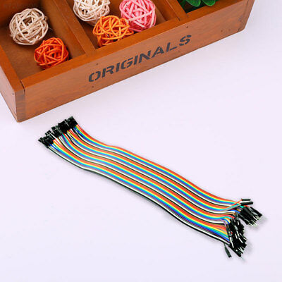7ECF 40Pcs 20cm Male To Female Multicolor Silicone Dupont Wire Jumper Cable
