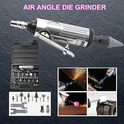 """HEAVY DUTY 15Pcs 1/4"""" AIR DIE RIGHT ANGLE GRINDER POLISHER SANDER KIT IN CASE"""