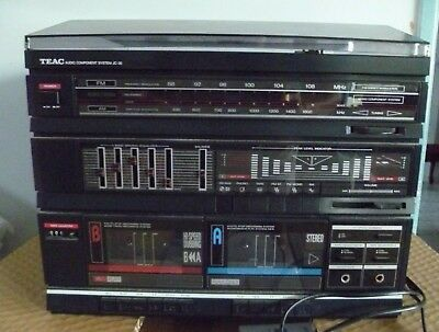 TEAC Audio Component System JC-30 Vinyl, Radio, Cassette Player - No Speakers