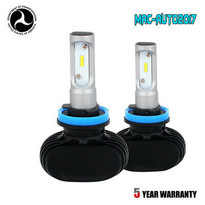 2 Sides H11 LED Headlight Lamp High or Low Beam Bulbs 60W 12000LM 6000K White