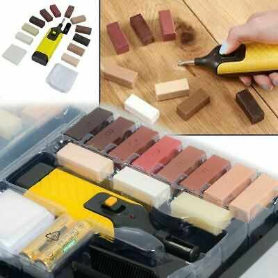 19pc Laminate Floor/Worktop Repair Kit Wax System Sturdy Chips Scratches UKED