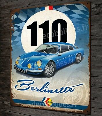 Plaque métal déco 3 Alpine renault A110 Berlinette classic,rallye,collection