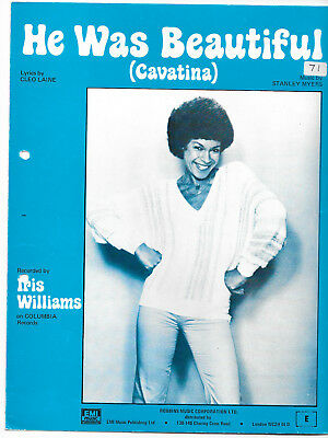 "Partition Sheetmusic ""He was so beautiful (Cavatina)"" Iris Williams,C.Lane-Myers"