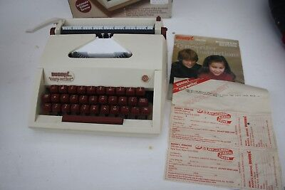 """RARE BOXED 1970s BUDDY L DELUXE """"EASY WRITER"""" TYPEWRITER Model 2500 Instructions"""