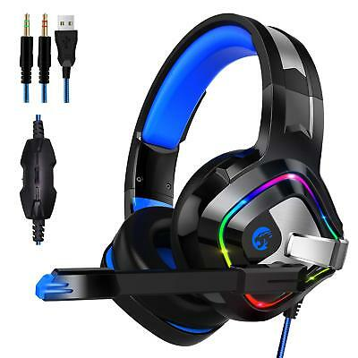 ZIUMIER Cuffie Gaming Per PS4 Xbox One PC, Headset con Microfono e Bass stereo