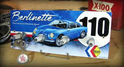 Accroche clés mural Alpine Renault A 110 berlinette, rallye classic, collection.