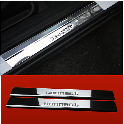 Ford Transit Connect TOURNEO Chrome Door Sill Protector Cover  Steel 2002-2013