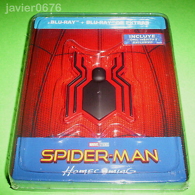 Spider-Man Homecoming Blu-Ray Nuevo Precintado Edicion Steelbook Marvel Studios