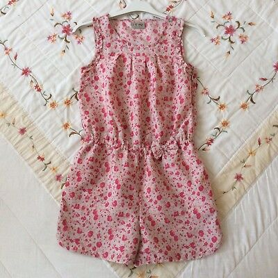 Girls age 9 yrs NEXT Pink Floral Play-Suit with Side Zip Fastening