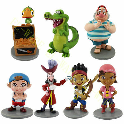7 Pcs Jake and the Never Land Pirates Action Figure Modle Cake Topper PVC