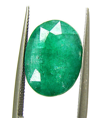 4.45 Ct Certified Natural Green Emerald Loose Gemstone Oval Cut Stone - 133362
