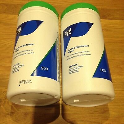 2 x 200 Pal TX Surface Disinfectant Wipes Expiry Date 06/11/2019