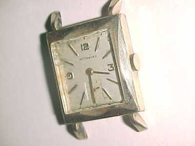 Art Deco  Wittnauer  -  Full 10K Gold Filled Scalloped Case  -  Needs Attention