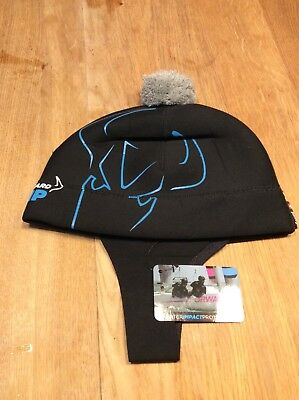 New Watersports Forward Wip Neoprene Beanie/ balaclava with bobble, black & grey