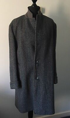 """Genuine Vintage Dunn & Co Heavy Harris Tweed  Blue/Green Size: Large: 42"""" Chest."""