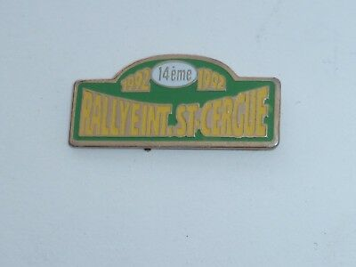 Pin's RALLYE INTERNATIONAL DE SAINT CERGUE, 1992