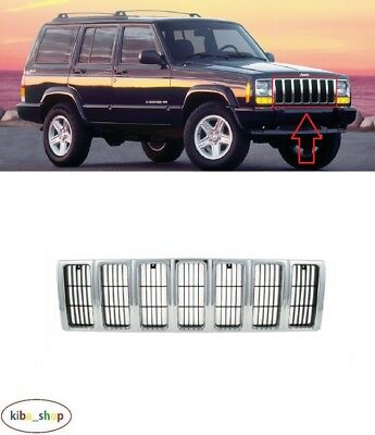 For Jeep Cherokee Xj 2000 - 2001 Front Bumper Chrome Center Radiator Grill