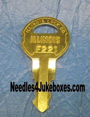 1 Seeburg Jukebox Cabinet Key U-Pick: G219, G245, F221, F279, F313, F314 or F264