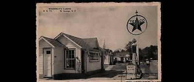 Texaco Gas Station Postcard You Are A Stranger Here But Once, Wimberly's Cabins