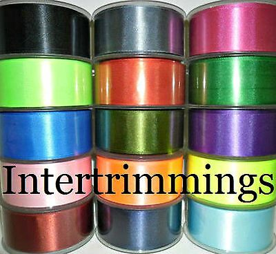 Double Sided Satin Ribbon, 38Mm, 5 Metres, Assorted Colours