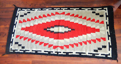 Native American Rug   Red, Black, Grey and White   Klagetah?
