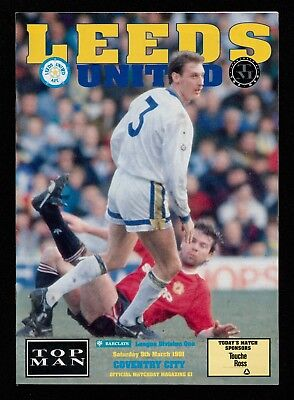 Leeds United v Coventry City, Division One, 9.3.91