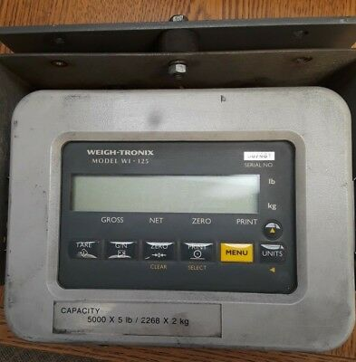 Weigh Tronix WI-125 Forklift Scale Indicator, Used