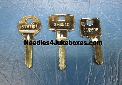 NSM Jukebox Cabinet Key: Your Choice of One: #167676 or 2C2608 or 2H0010