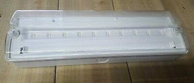 LED Emergency Commercial Bulkhead Light, Non Maintained, New & Unused.