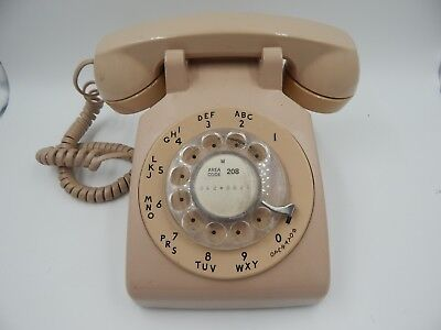 Western Electric Rotary Telephone Beige 500 DM Vintage WORKS