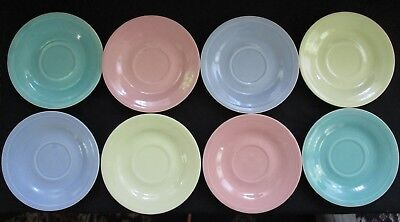 Edwin Knowles Deanna Mixed Pastel Saucers x8