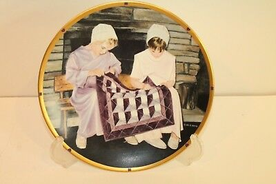NEW Lenox LITTLE QUILTERS Plate by Al Koenig 1994 The Plain Folk Amish Mennonite