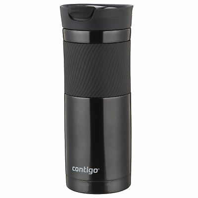 Contigo Byron Travel Mug SnapSeal Vacuum Insulated Tumbler Hot/Cold, Black 590ml