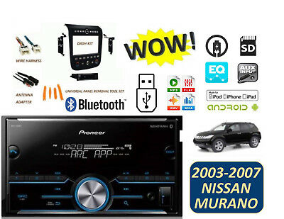 Fits NISSAN MURANO 2003-2007 PIONEER STEREO KIT USB BLUETOOTH AUX MP3