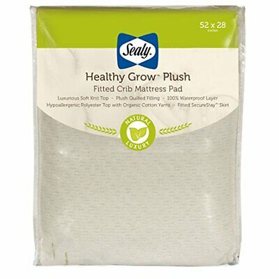 Sealy Healthy Grow Plush Fitted Crib Mattress Pad - Free Shipping!