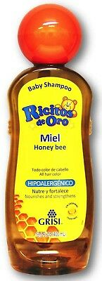 Ricitos de Oro Honey Bee Baby Shampoo with Pop-Up Rattle Cap | Paraben Free