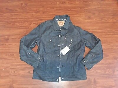 RARE Levi USA Selvedge  Blanket Lined Type 3 Trucker Size XL NWT