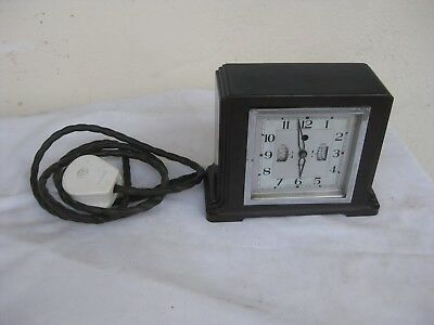 vintage Smiths Sectric clock bakelite body,see photos for more information,