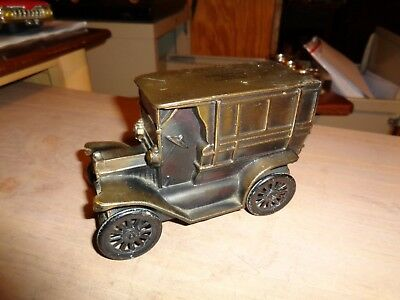VINTAGE Replica 1915 Ford ADVERTISING  Copper/Brass Truck Piggy Bank