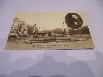 Ancienne  Carte  Postale  Anvers  -  Monument  Peter Benoit   Occasion !