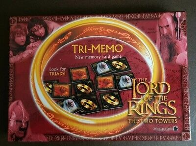 TRI MEMO Memory Card Game The LORD OF THE RINGS The TWO TOWERS VGC