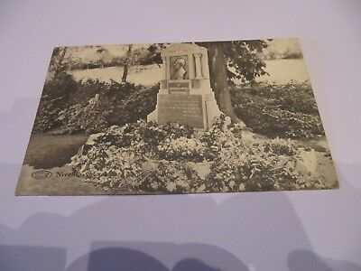 Ancienne  Carte  Postale   Nivelles  -  Monument  Georges Willame  Occasion !