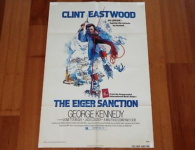 "Original Movie Poster ""the Eiger Sanction"" 1975 Folded One-Sheet Clint Eastwood"