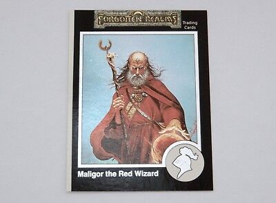 Trading Cards Forgotten Realms 792 Maligor The Red Wizard Promo Card 1992 Tsr