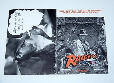 Indiana Jones & The Raiders Of The Lost Ark Cinema Contest Form 1984 Holland Htf