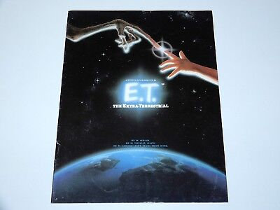 E.t. The Extra Terrestrial Movie Special Magazine Cinema Teaser Booklet 1982 Uk
