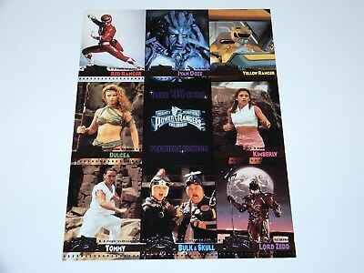 Trading Cards Mighty Morphin Power Rangers Movie Promo Sheet Uncut 1995 Fleer