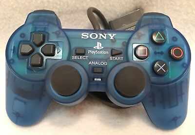 Sony Playstation PS1 Blue Official OEM Controller SCPH-1200 Tested Working