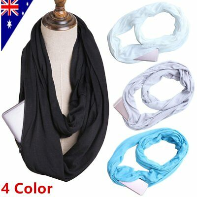 Convertible Journey Infinity Scarf With Pocket Multi-use Scarf With Pocket HC